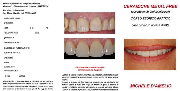 Anteprima locandina corso faccette - Studio Dentistico Michele D'Amelio a Mestre Venezia